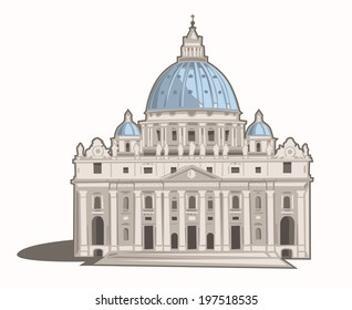 Vector Illustration of St. Peter's Basilica