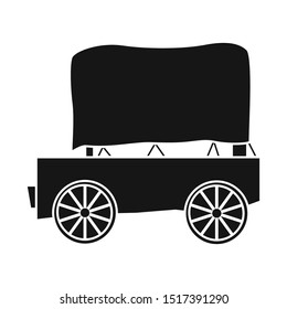 Vector illustration of stagecoach and old icon. Graphic of stagecoach and brougham stock symbol for web.