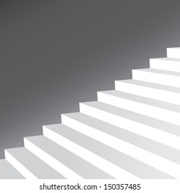 vector illustration of  stairs