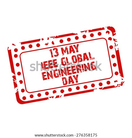 Vector Illustration Of A Stamp For IEEE Global Engineering Day