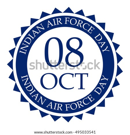 Vector Illustration Stamp Indian Air Force Stock Vector Royalty