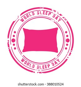 Vector illustration of a stamp for World Sleep Day.