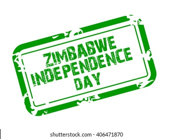 Vector illustration of a Stamp for Zimbabwe independence day.
