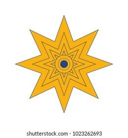 Vector illustration: The Star of Ishtar, Symbol of Inanna, also called Star of Venus. Eight point star or variant of Istar Octagram.