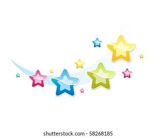 Vector. Illustration with stars