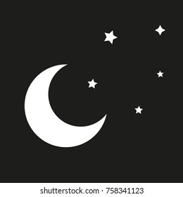 Vector illustration of stars and moon