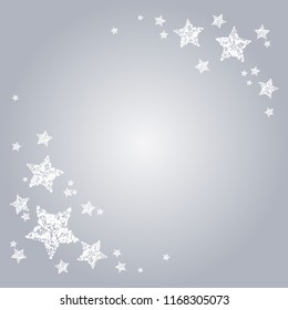Vector illustration of Stars on a gray background
