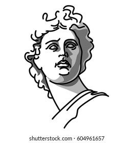 Greek Gods Statues Drawing Images, Stock Photos & Vectors