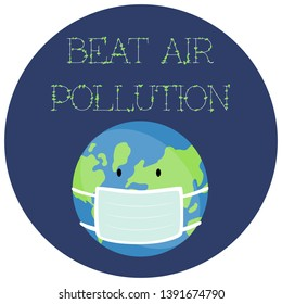 Vector illustration of a Sticker for World Environment Day.