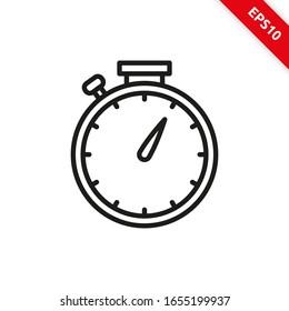 Vector illustration of stopwatch icon line symbol. eps10