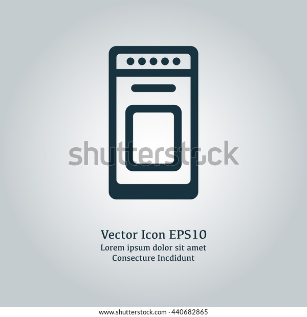 Vector illustration of stove icon