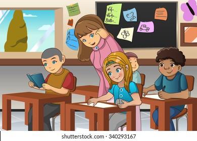 Teacher Classroom Clipart Images Stock Photos Vectors Shutterstock