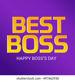 Vector illustration of a Stylish Colorful Text Background for Boss's Day.