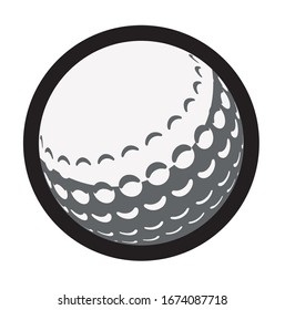 Vector illustration with a stylish golf ball.
