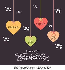 Vector illustration of a stylish heart for Happy Friendship Day.