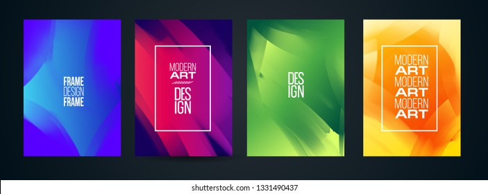 vector illustration. Stylish modern colorful paint streaks. Hipster frames. hand-drawn modern art design, graphic design for posters, flyers, booklets, covers.