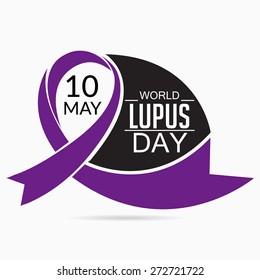Vector illustration of stylish ribbon for World Lupus Day.