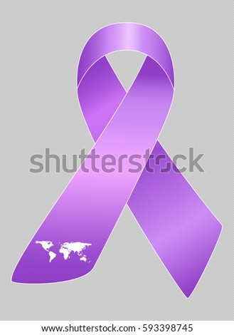 Vector Illustration Stylish Ribbon World Lupus Stock Vector Royalty