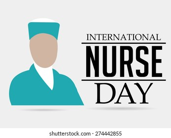 Vector illustration of stylish text for International Nurse Day.