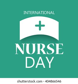 Vector illustration of a stylish text for International Nurse Day.