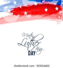 Vector Illustration of stylish text for Martin Luther King Day background.