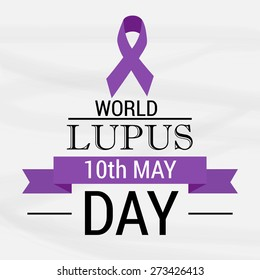 Vector illustration of stylish text for World Lupus Day.