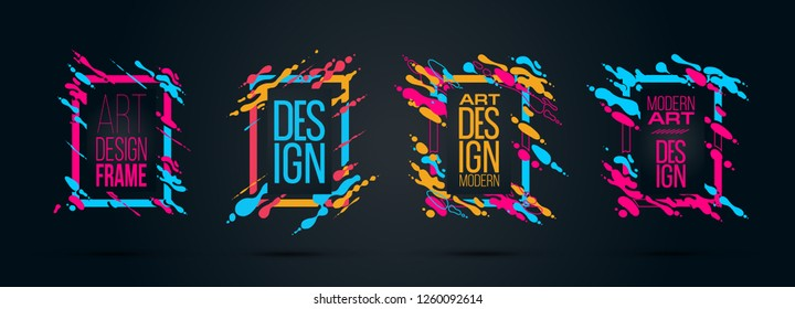 vector illustration. Stylish trendy modern background for design of colorful frames, form of waves and abstract liquid. graphic design for brochures, flyers, envelopes, presentations, reports