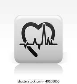 Vector illustration of stylized heart icon.