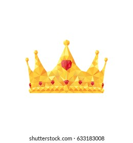 Vector illustration of stylized polygonal crown.