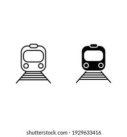 vector illustration of subway symbol. editable icon design on white background
