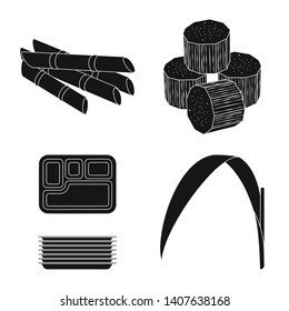 Vector illustration of sucrose and technology icon. Set of sucrose and cane stock vector illustration.
