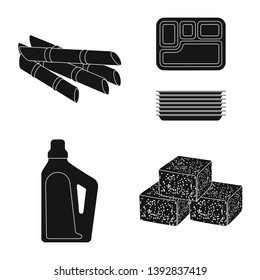 Vector illustration of sucrose and technology sign. Collection of sucrose and cane stock vector illustration.