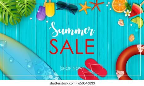 Vector illustration of Summer sale banner