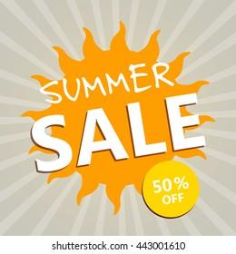 Vector Illustration of a Summer Sale Design Template