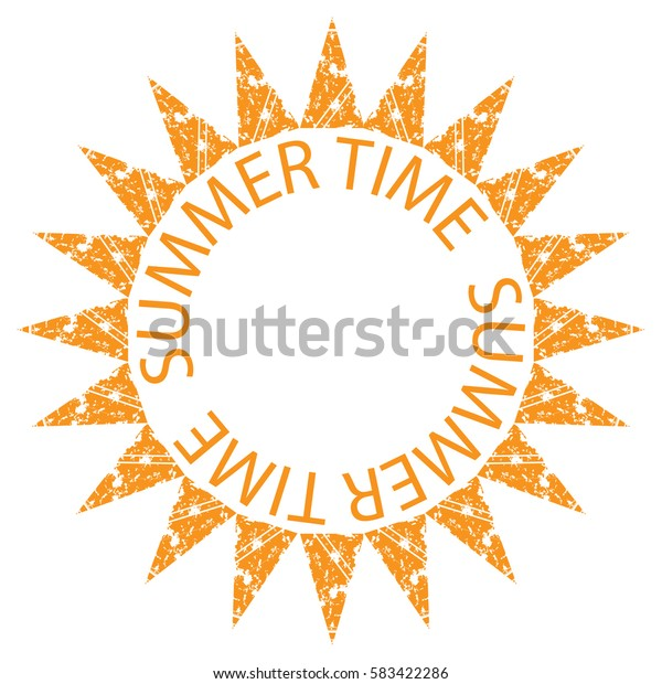 Vector illustration of summer time