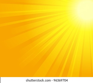 vector illustration of sunburst
