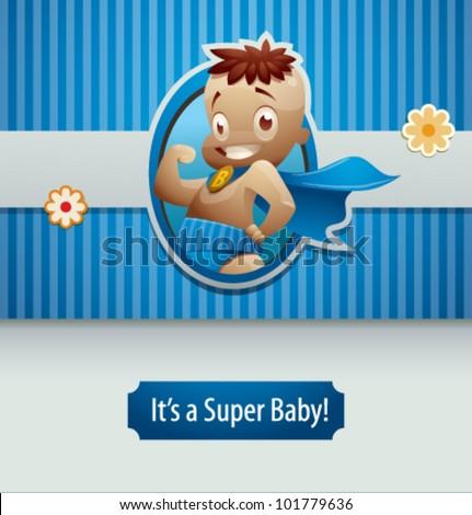 1e70254c6 Vector Illustration Super Baby Boy 3 Stock Vector (Royalty Free ...
