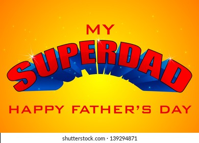 vector illustration of Superdad Father's Day Background