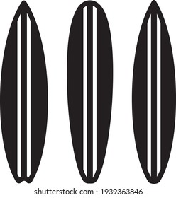 Vector illustration of the surfboards silhouette