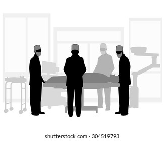 Vector illustration of a surgical operation