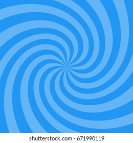 Vector illustration for swirl design. Swirling radial pattern background. Vortex starburst spiral twirl square. Helix rotation rays. Converging psychedelic scalable stripes. Fun sun light beams.