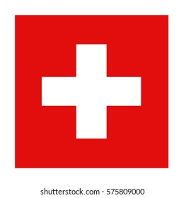 vector illustration of Swiss flag