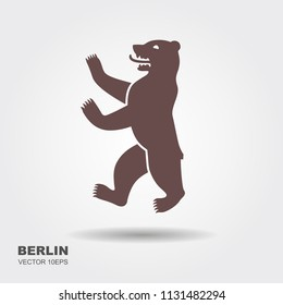 Vector illustration symbol of Berlin, Germany Bear isolated on white background.