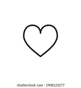 Vector  illustration symbol of Love Icon flat style modern design Isolated on Blank Background.