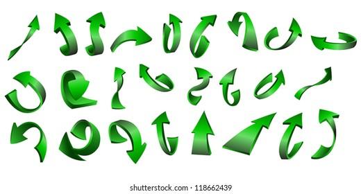 Vector illustration, symbols. Arrows.