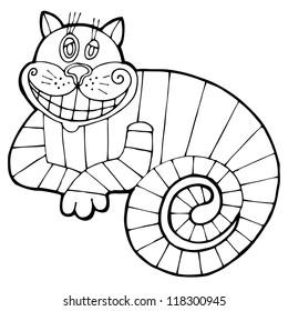 Vector illustration for tale Alice in Wonderland
