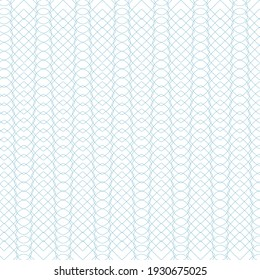 Vector illustration of tangier grid, abstract wave guilloche background