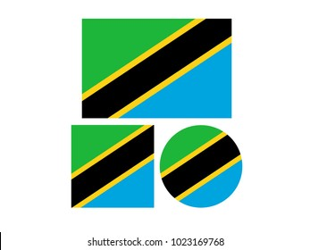 vector illustration of Tanzania flags