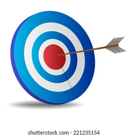Vector illustration of target with an arrow