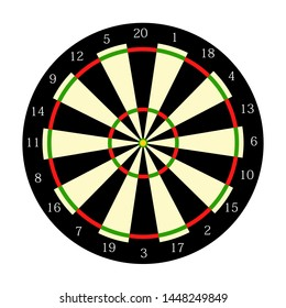 Vector illustration. Target darts on white background. Colorful icon